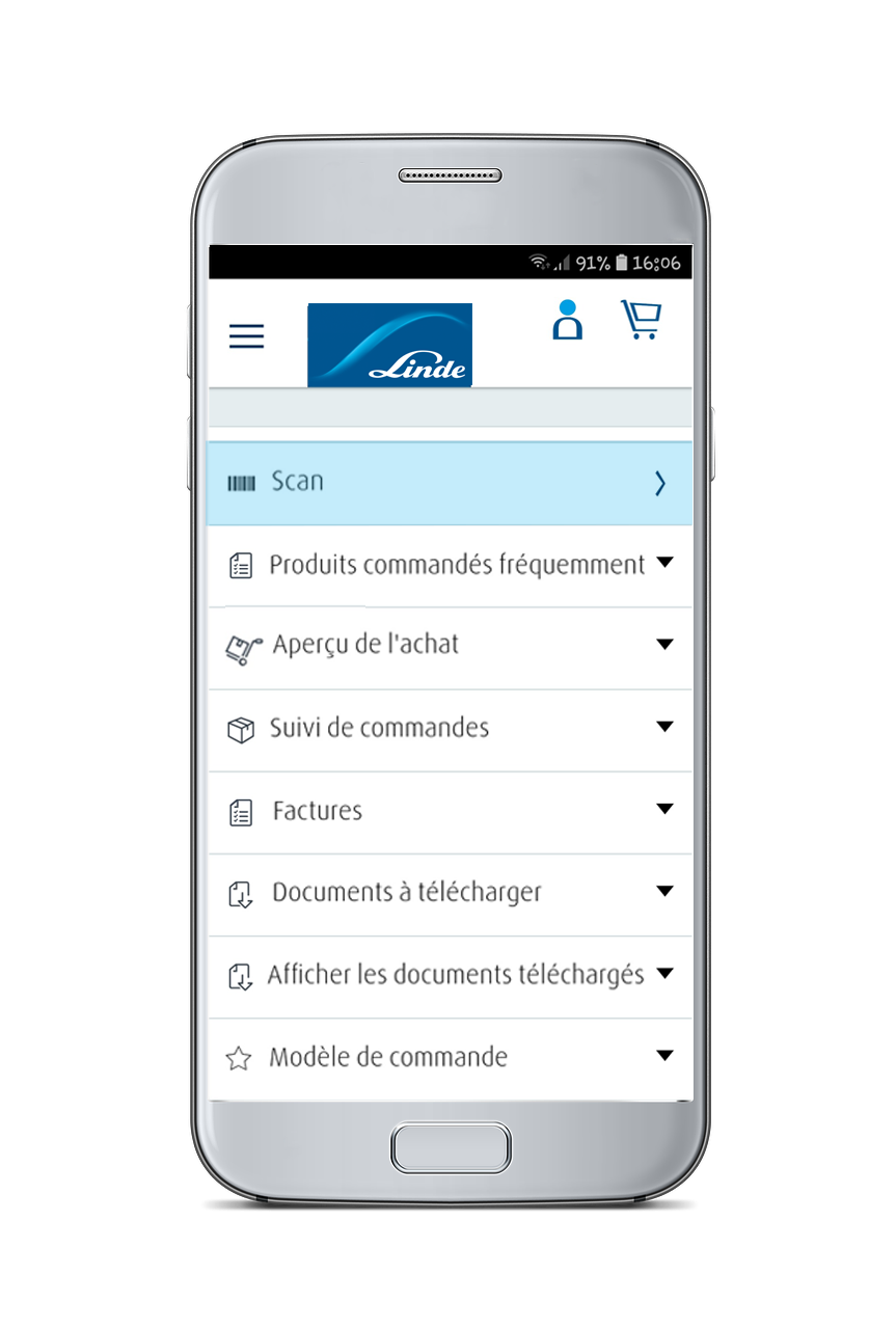 Linde App Screen
