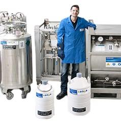 Gase in Kryobehältern