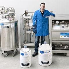 Gas in contenitori criogenici