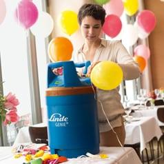 Helium- und Ballongas
