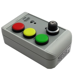 Alarm-indikator. S185 Indikatorpanel med rød-gul-grøn.