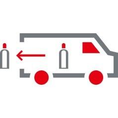 Siirto autosta käyttökohteeseen