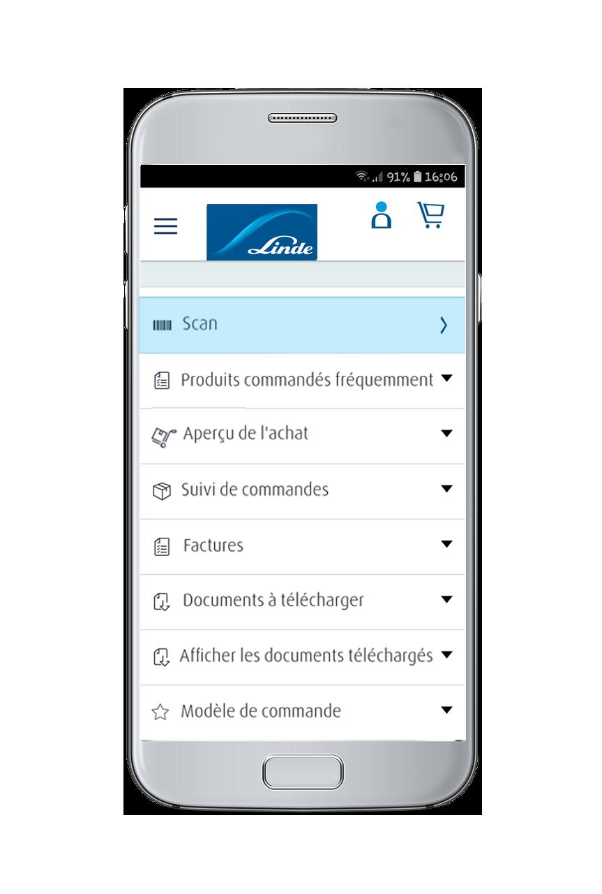 Linde App Screen