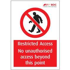 Restricted Access A4 Sign