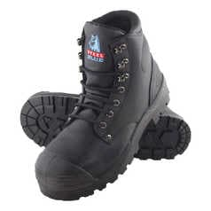 Steel Blue Argyle Lace-Up Safety Boot with Steel Toecap, Nitrile Outsole and Bump Cap