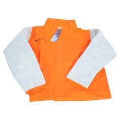 WELD GUARD Hi-Vis Welder's Jacket with Leather Sleeves