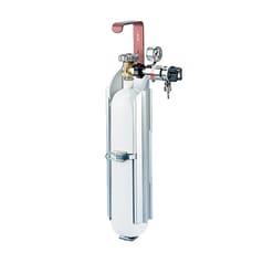 Gas cylinder holder made of aluminium