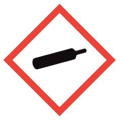 Sign gas under pressure