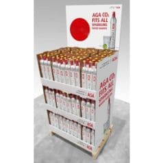 CO2 Cylinders AGA Red (packed 1/2 pallet of 324X425g)