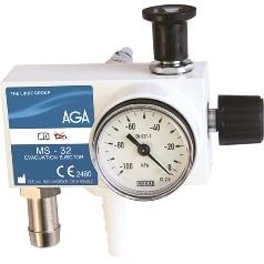 Gasevakuering med sugejektor – EVAK MS 32