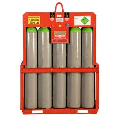 Air Manifolded Cylinder Pallet, Industrial Grade, Compressed Gas