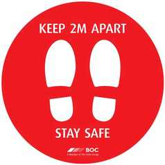 Keep 2m Apart Footprint Sign
