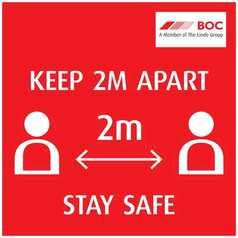 Keep 2 meters Apart Floor Sign