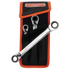 Bahco 3-Piece Ratchet Spanner Set
