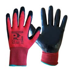 Coloursafe PredRed Smooth Nitrile Gloves