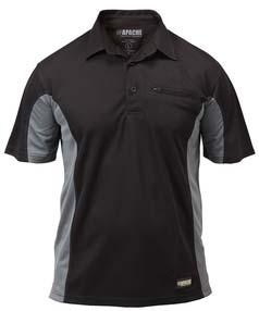 Apache Black/Grey Dry Max Polo Shirt