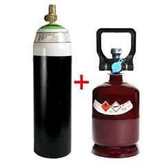Oxygen E Cylinder and Acetylene K Cylinder Bundle