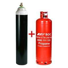 Oxygen W Cylinder and Propane E Cylinder Bundle