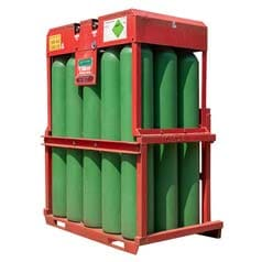 Pureshield Argon Manifolded Cylinder Pallet, Industrial Grade, Compressed Gas